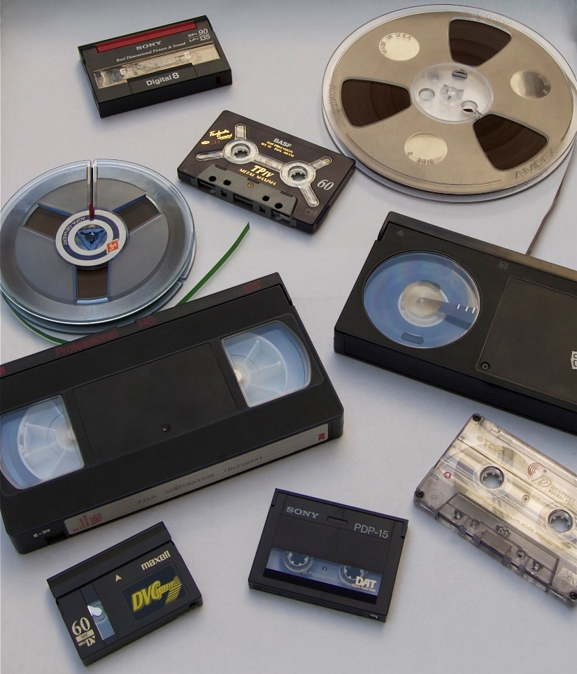 magnetic audio and video tapes